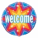 "18"" Welcome Dazzle Foil Balloon 1 per pack"