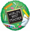 "18"" World's Best Teacher 10 Pack"
