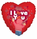 "Love Balloons 18"" You Are the One I Love You"