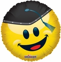 "18"" Smiley Grad With Cap Helium Foil Balloon 1 per pack"