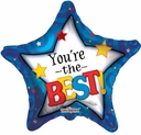 """18"""" Your the Best Star Helium Foil Balloon 1pk"""
