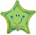 "19"" Green Smiley Star 10pk"