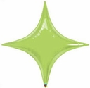 "20"" Qualatex Lime Green Star Point Air Fill Foil Balloon"