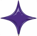 "20"" Qualatex Quartz Purple Star Point Air Fill Foil Balloon"