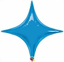 "20"" Qualatex Sapphire Blue Star Point Air Fill Foil Balloon"