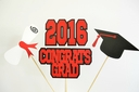 2016 Number Balloons Great for Graduation Special 4 Pack