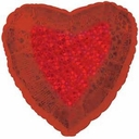 "22"" Holographic Red Heart 1PK"