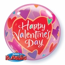 "22"" Qualatex Bubble Balloon Valentine's Day"