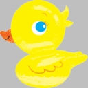 "28"" Ducky Shape Foil Helium Balloon 1ct"