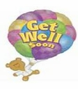 "28"" Get Well Soon Helium Foil Balloon 1 Per Pack"