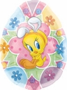 "28"" Tweety Easter Egg Foil Shape Balloon 1 per pack"
