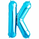 "34"" Blue  Letter ""K"" Foil Balloon"