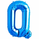 "34"" Blue  Letter ""Q"" Foil Balloon"