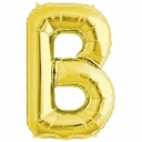 "34"" Gold Letter ""B"" Foil Balloon"