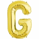 "34"" Gold Letter ""G"" Foil Balloon"