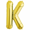 "34"" Gold Letter ""K"" Foil Balloon"