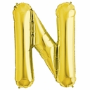 "34"" Gold Letter ""N"" Foil Balloon"