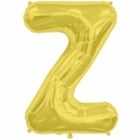 "34"" Gold Letter ""Z"" Foil Balloon"