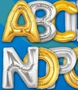 "34"" Jumbo Foil Letter Balloons Spell Names and Initials"