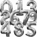 """34"""" Jumbo Foil Number Balloons in Assorted Colors"""