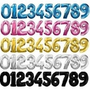 """34"""" Jumbo Helium Foil Number Balloons in Assorted Colors"""