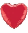 "36"" Red Mylar Heart 1 Per Pack"
