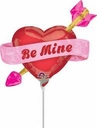 "4"" Micro Mini Valentine Foil Balloons Air Fill Only"