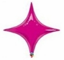"40"" Qualatex Magenta Star Point Foil Balloon"