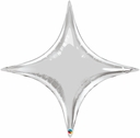"40"" Silver Star Point 1ct"