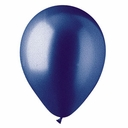 "5"" Metallic Blue Latex Balloons 100 Per Bag"