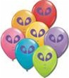 "5"" Qualatex Alien Head Assorted Latex Balloons 100 Per Bag"