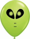 "5"" Qualatex Lime Alien Head Latex Balloons 100 Per Bag"