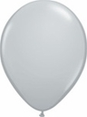 "5"" Qualatex Gray Latex Balloons 100 Per Bag"