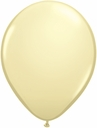 "5"" Qualatex Ivory Silk Latex Balloons 100 Per Bag"