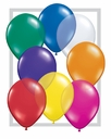 "5"" Qualatex Jewel Assortment Latex Balloons 100 Per Bag"