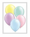 "5"" Qualatex Pastel Assorted Latex Balloons 100 Per Bag"