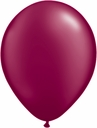 "5"" Qualatex Pearl Burgundy Latex Balloons 100 Per Bag"