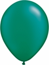 "5"" Qualatex Pearl Emerald Green Latex Balloons 100 Per Bag"