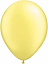"5"" Qualatex Pearl Lemon Chiffon Latex Balloons 100 Per Bag"