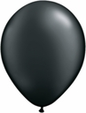 "5"" Qualatex Pearl Onyx Black Latex Balloons 100 Per Bag"