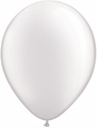 "5"" Qualatex Pearl White Latex Balloons 100 Per Bag"