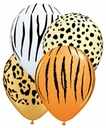 "5"" Qualatex Safari Assorted Latex Balloons 100 Per Bag"