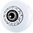 "5"" Qualatex Scary Eye Latex Balloons 100 Per Bag"