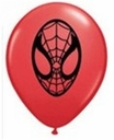"5"" Qualatex Spider Man Face Latex Balloons 100 Per Bag"