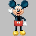 Full Size Micky Mouse Foil Balloon AirWalker