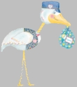 Stork Air Walker Foil Balloon