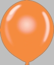 "72"" Orange Large Round Latex Balloons"