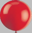 "72"" Red Large Round Latex Balloons"