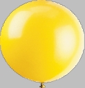 "72"" Yellow Large Round Latex Balloons"