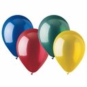 "9"" Assorted Color Latex Balloons 100 per bag"